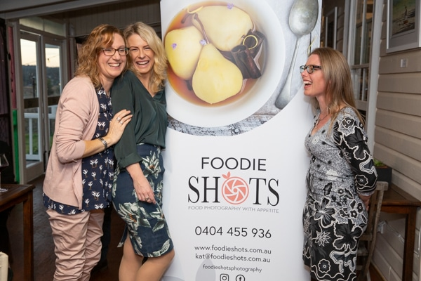 Clare and Marianne at Foodie Shots launch