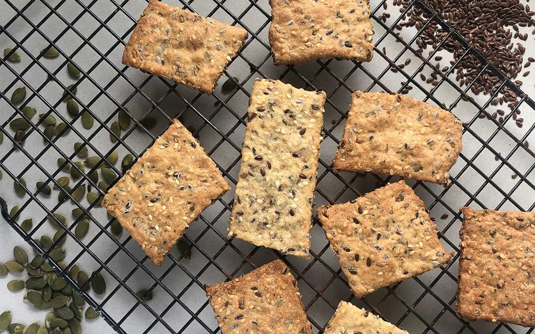 Foodie At Home – Seeded Crackers
