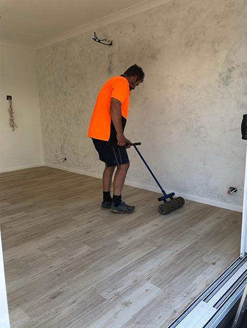 Foodie Shots Flooring going in by Solomons Flooring