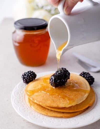 Foodie Shots Pancakes and MulberriesFoodie Shots Pancakes and Mulberries