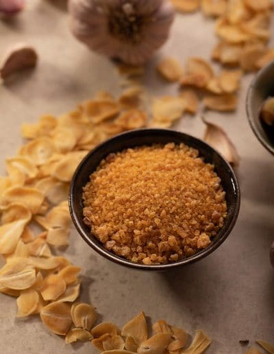 Foodie Shots Garlic Crumbs