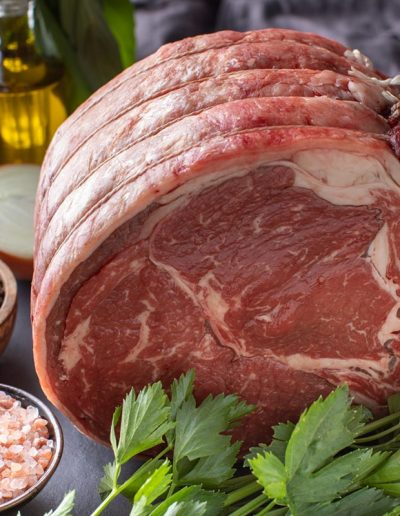 Foodie Shots - Roast on Black Tile - Michari Meats