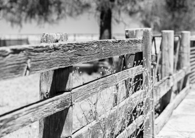 Built to last wooden farm fence