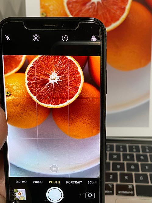 iPhone grid imager foodie photography micro course