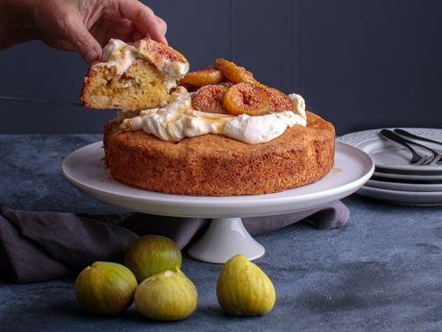 Foodie shots - Slice of Drunken Fig Cake