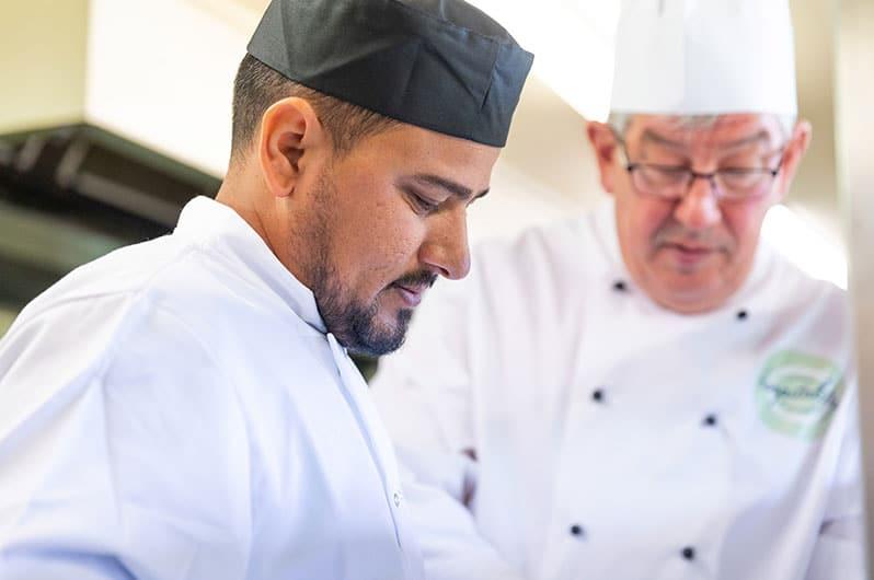 Apprentice in the kitchen with Chef Stephen Simon